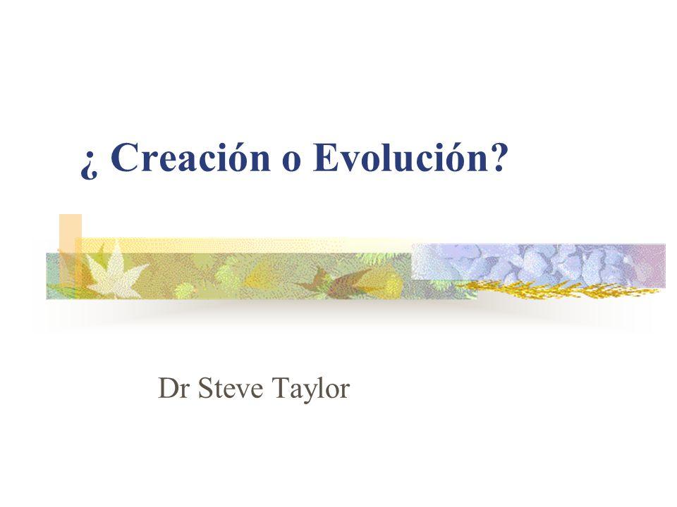 ¿ Creación o Evolución Dr Steve Taylor