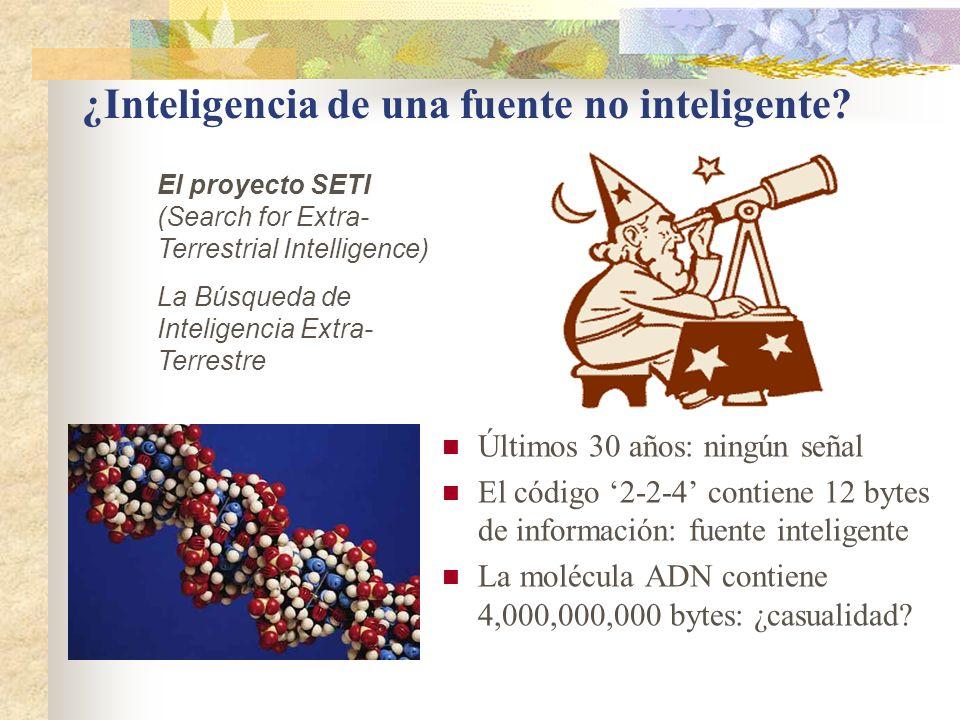 ¿Inteligencia de una fuente no inteligente