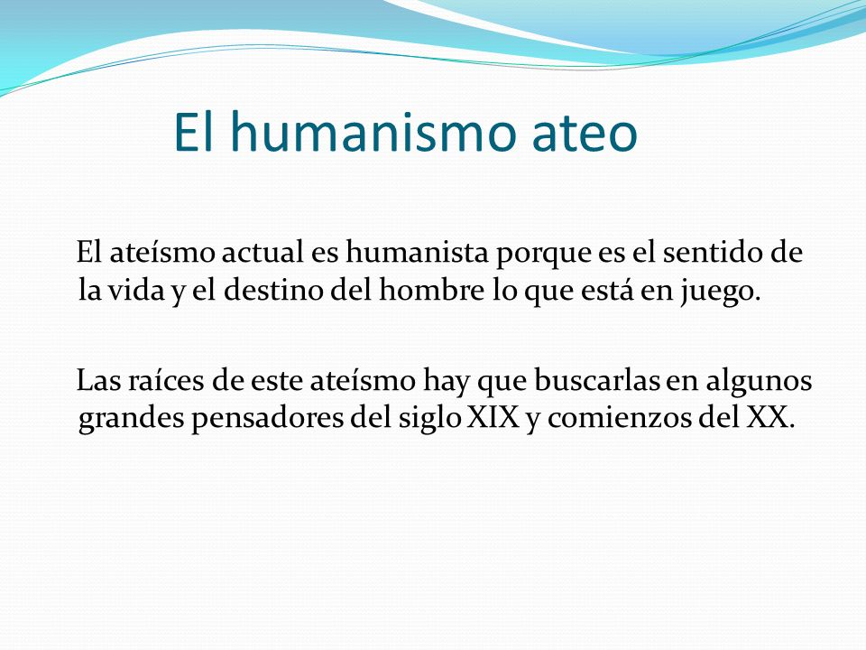 El humanismo ateo