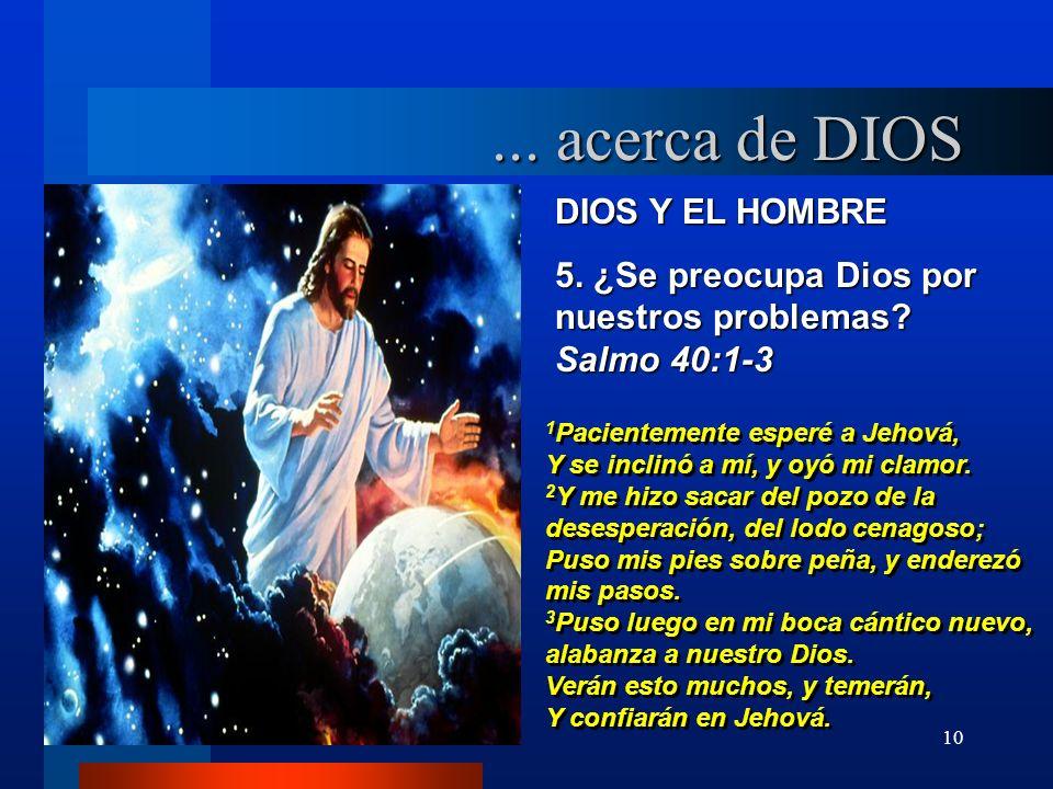 ... acerca de DIOS DIOS Y EL HOMBRE