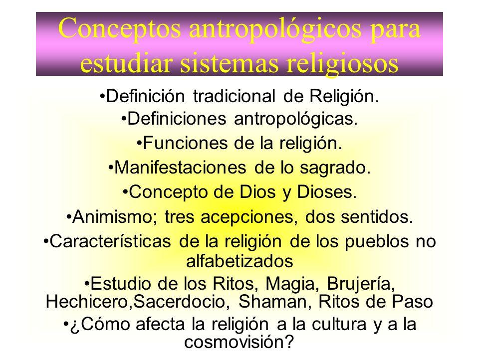Conceptos antropológicos para estudiar sistemas religiosos