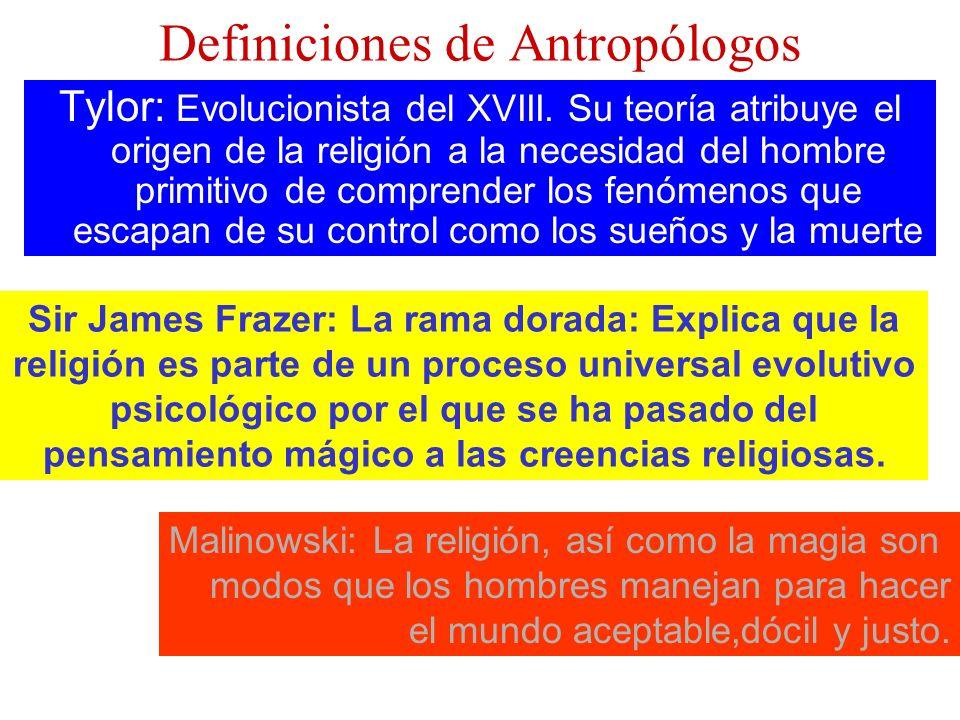Definiciones de Antropólogos