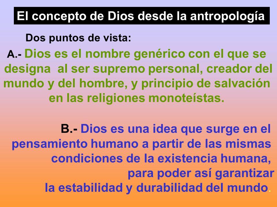 El concepto de Dios desde la antropología
