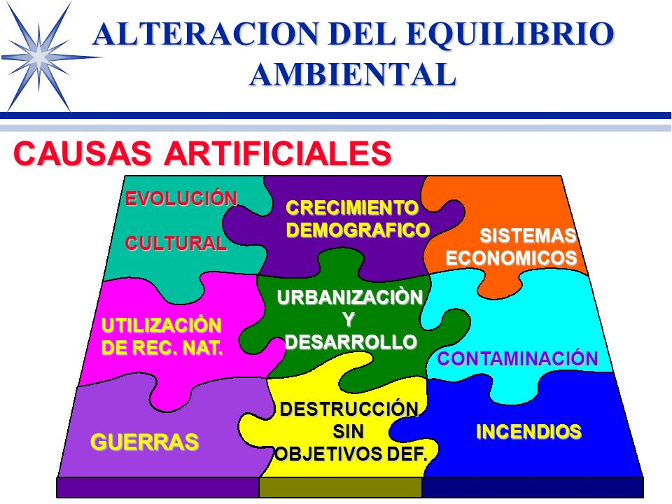 ALTERACION DEL EQUILIBRIO AMBIENTAL