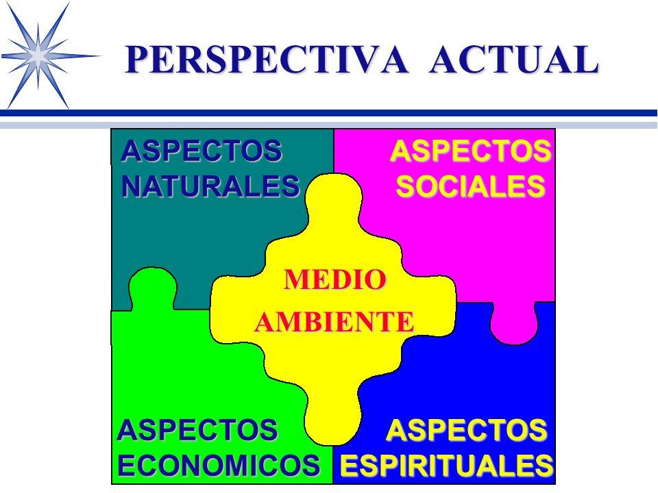 PERSPECTIVA ACTUAL ASPECTOS NATURALES ASPECTOS SOCIALES MEDIO AMBIENTE