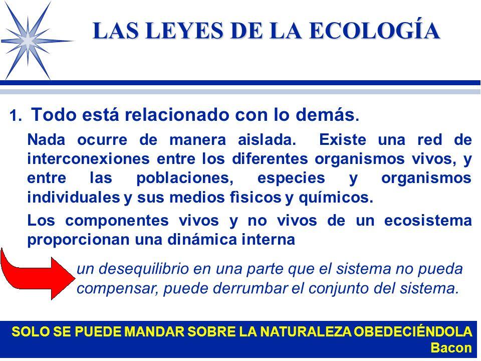 LAS LEYES DE LA ECOLOGÍA