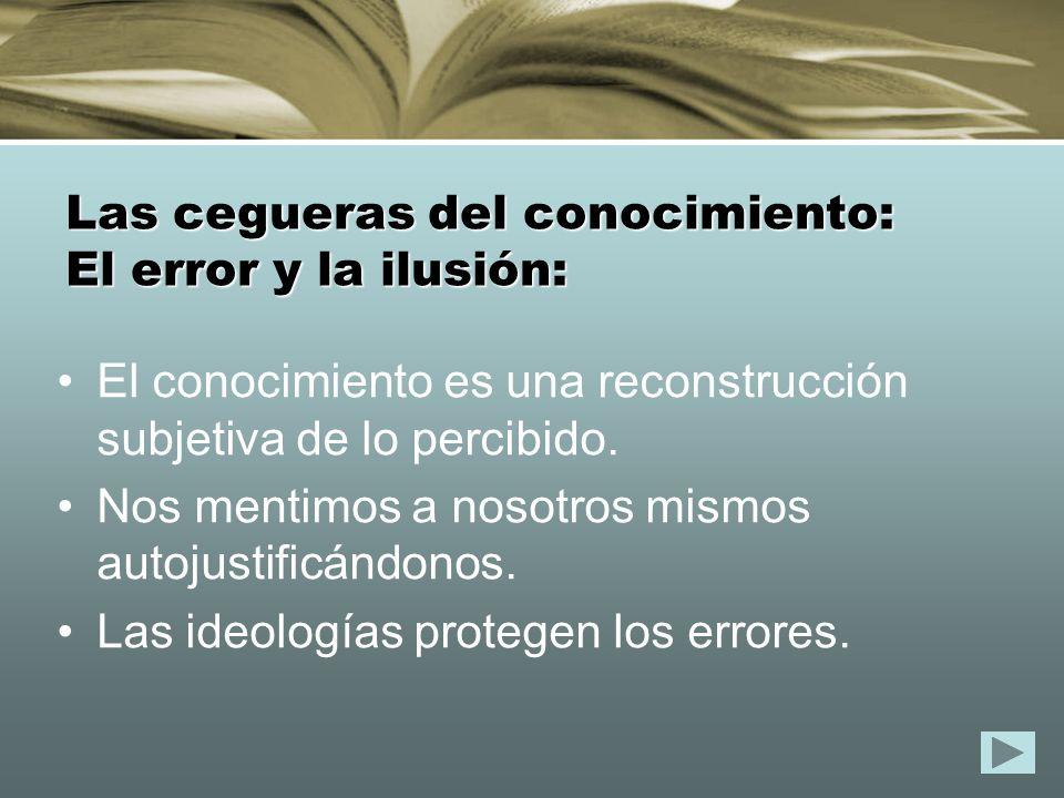Las cegueras del conocimiento: El error y la ilusión: