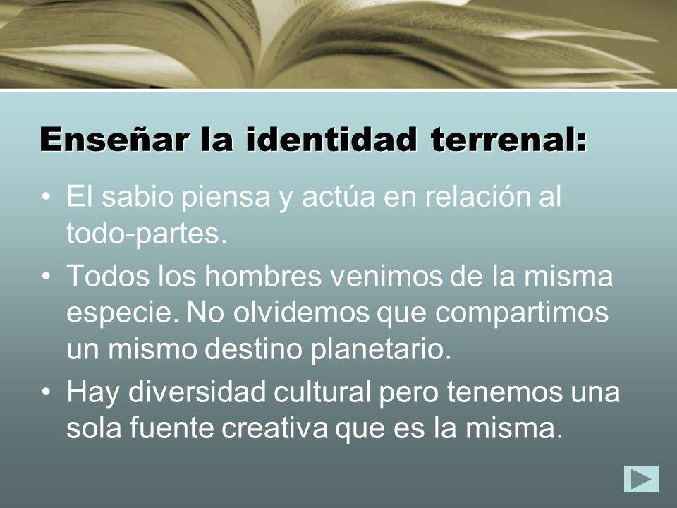Enseñar la identidad terrenal: