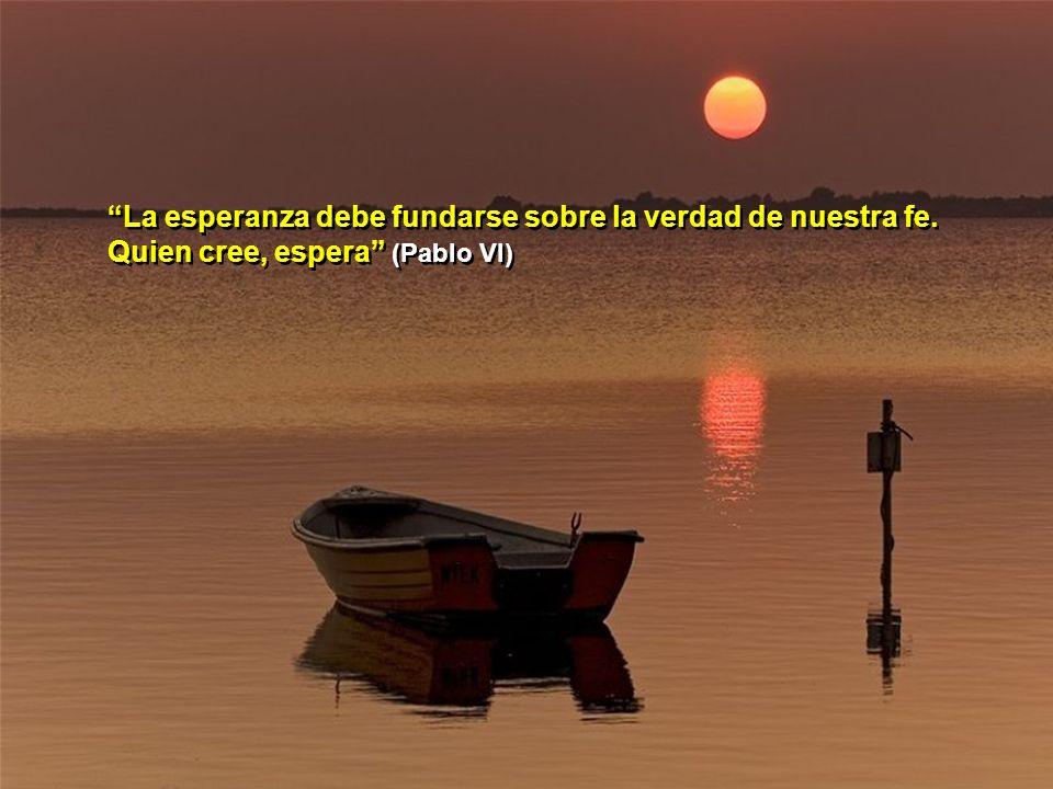 La esperanza debe fundarse sobre la verdad de nuestra fe
