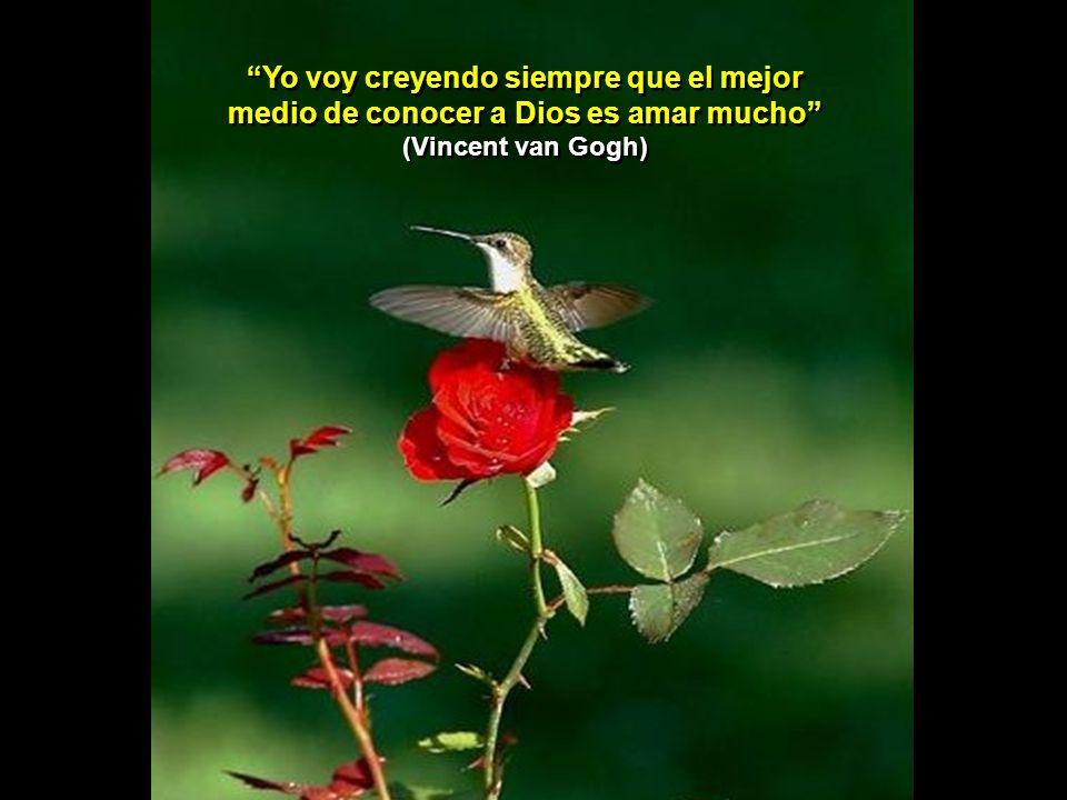 Yo voy creyendo siempre que el mejor medio de conocer a Dios es amar mucho (Vincent van Gogh)