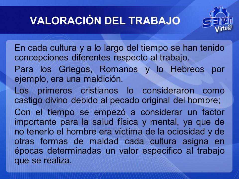 VALORACIÓN DEL TRABAJO