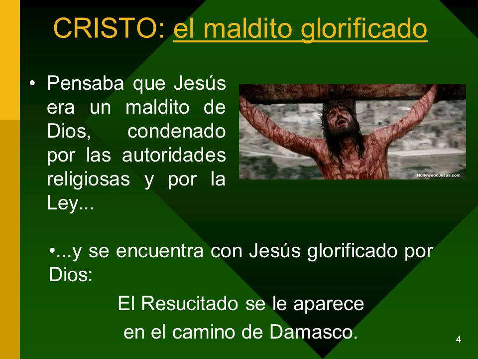 CRISTO: el maldito glorificado