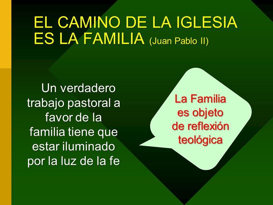 EL CAMINO DE LA IGLESIA ES LA FAMILIA (Juan Pablo II)