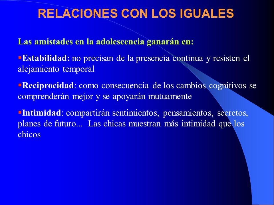 RELACIONES CON LOS IGUALES