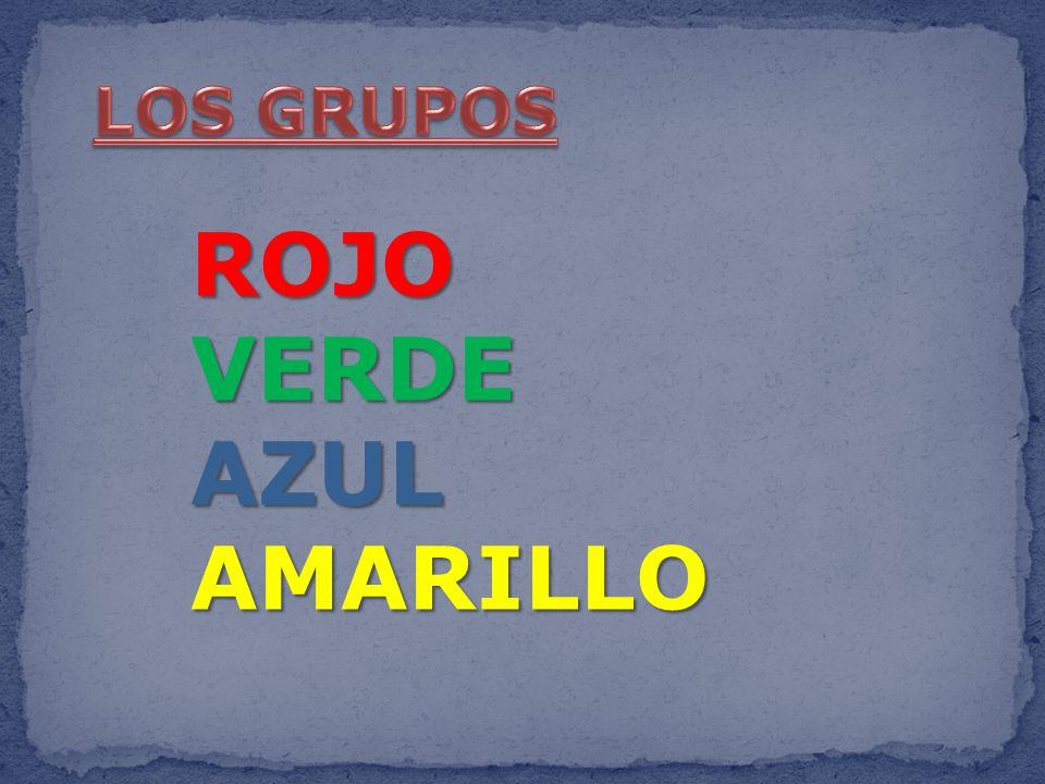 LOS GRUPOS ROJO VERDE AZUL AMARILLO