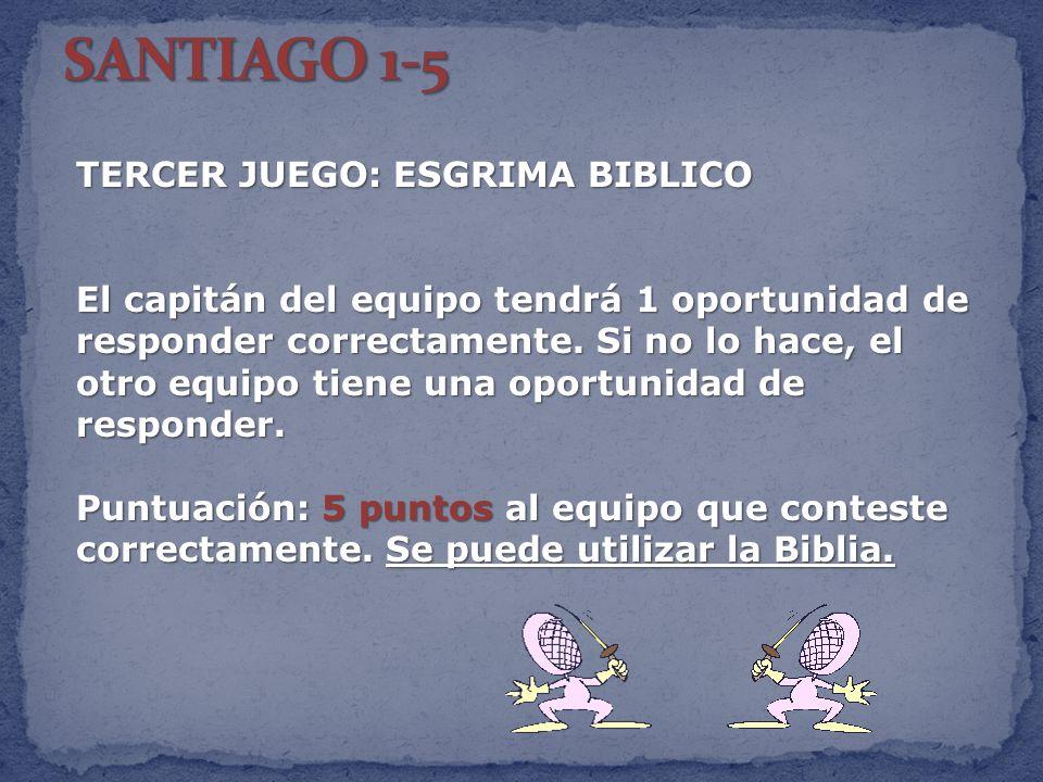 SANTIAGO 1-5 TERCER JUEGO: ESGRIMA BIBLICO