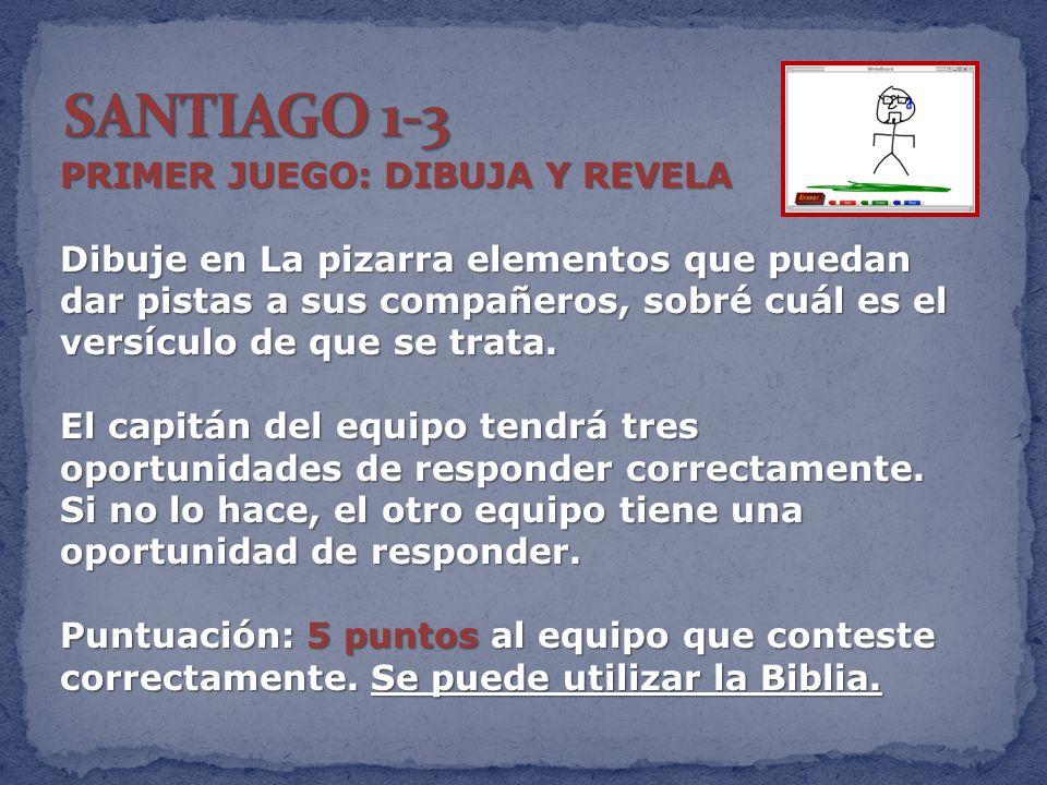 SANTIAGO 1-3 PRIMER JUEGO: DIBUJA Y REVELA