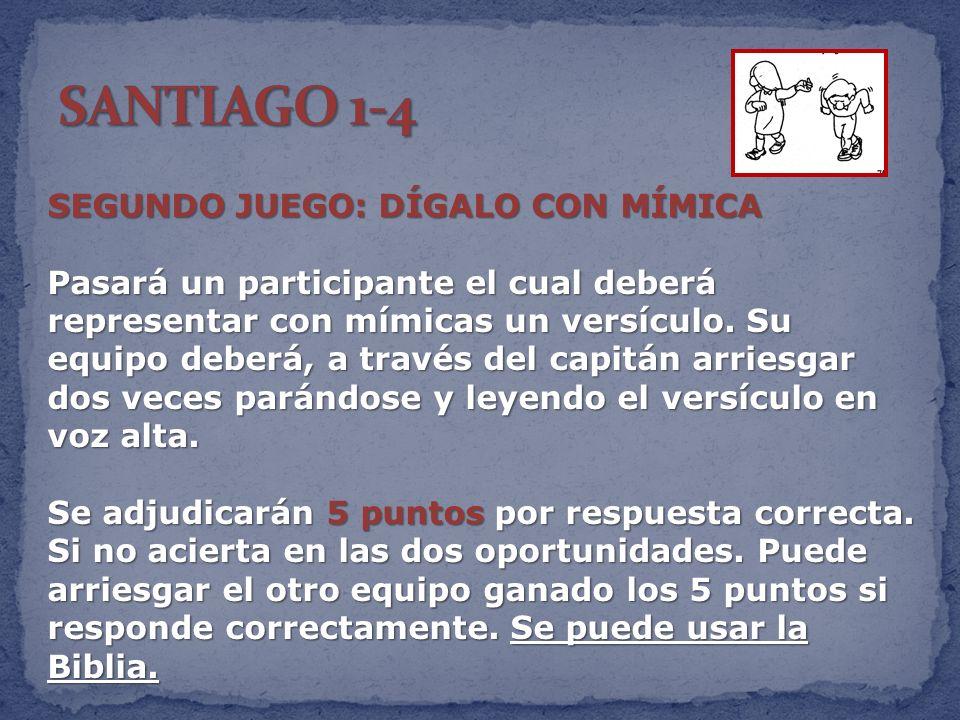 SANTIAGO 1-4 SEGUNDO JUEGO: DÍGALO CON MÍMICA