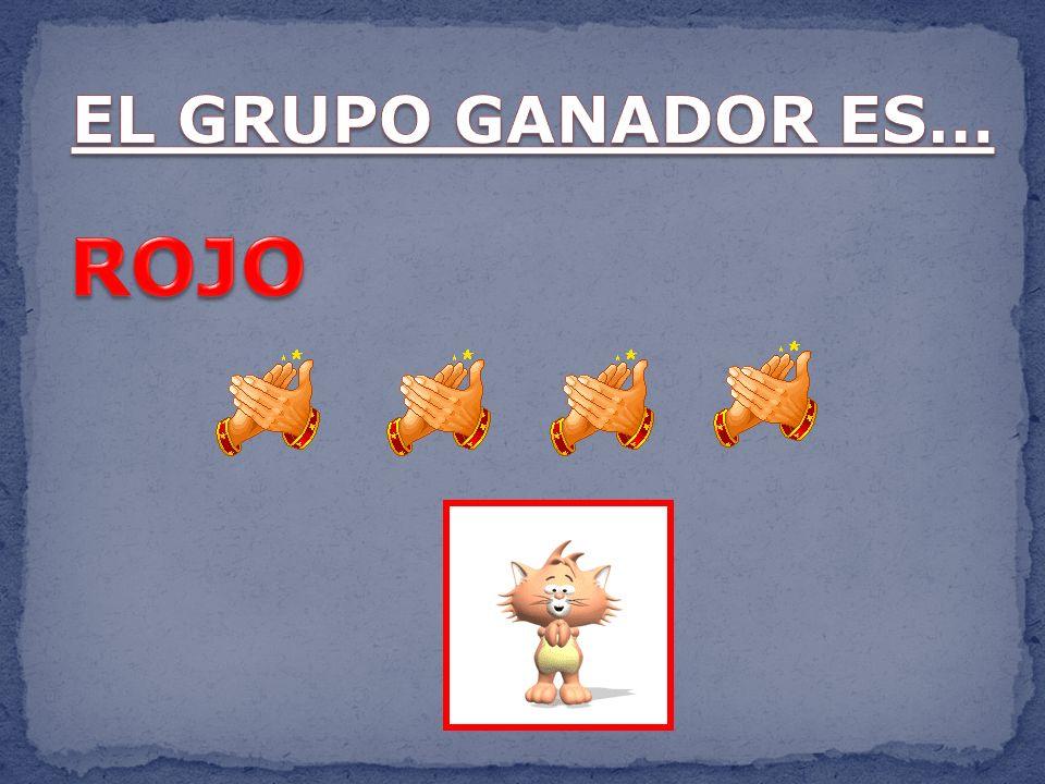 EL GRUPO GANADOR ES… ROJO
