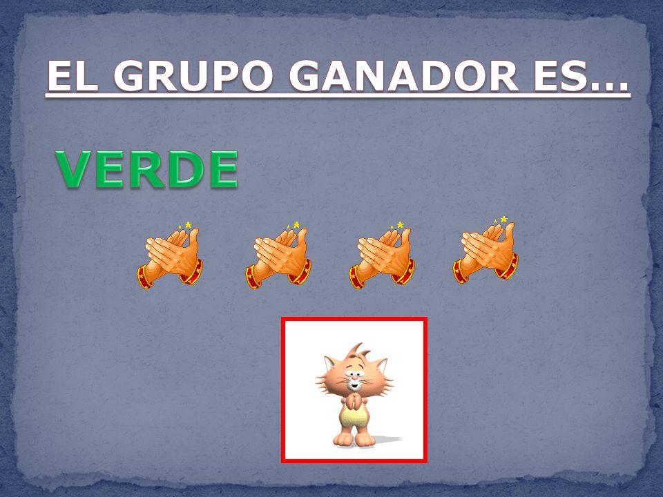 EL GRUPO GANADOR ES… VERDE
