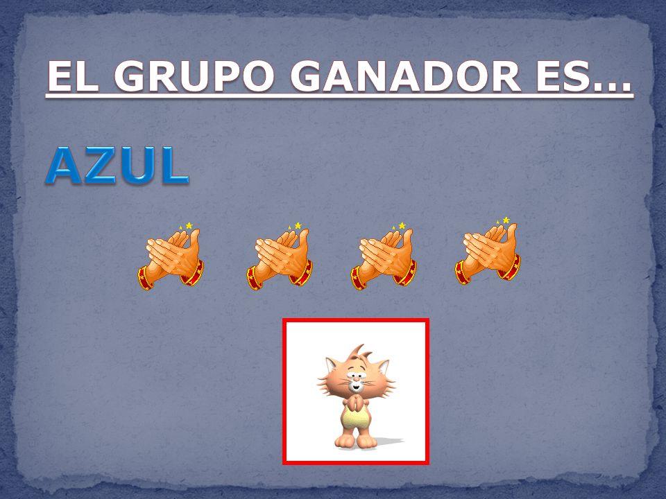 EL GRUPO GANADOR ES… AZUL