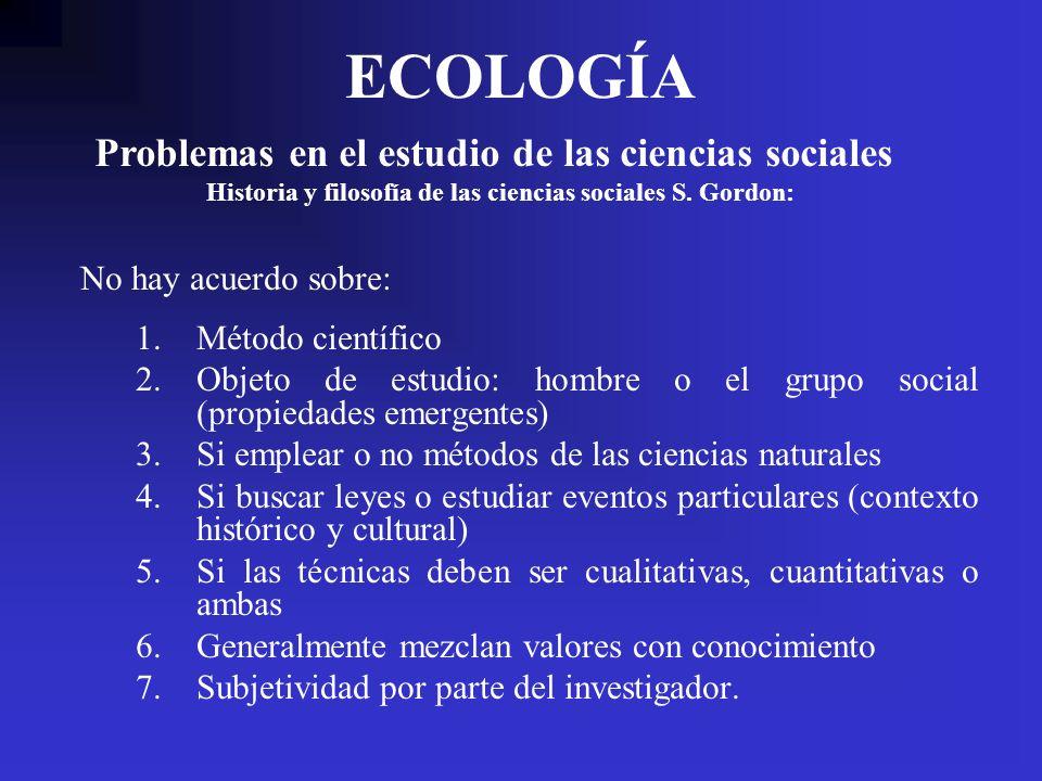 Historia y filosofía de las ciencias sociales S. Gordon: