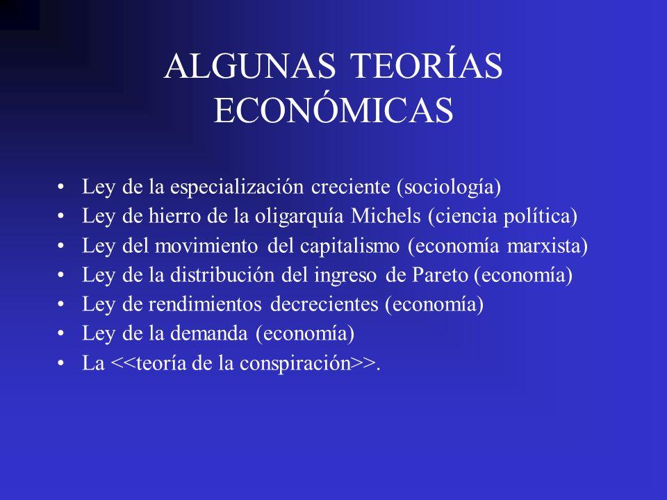 ALGUNAS TEORÍAS ECONÓMICAS