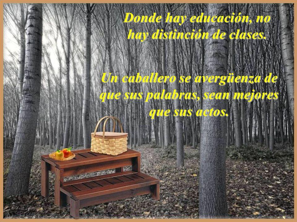 Donde hay educación, no hay distinción de clases.