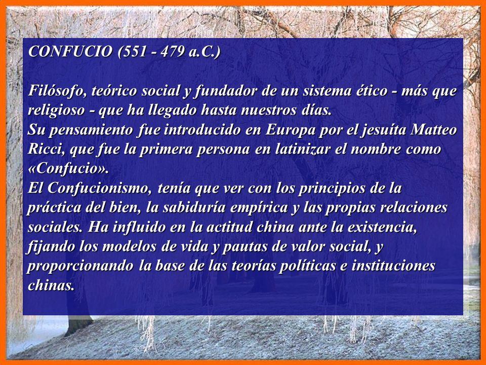 CONFUCIO (551 - 479 a.C.)