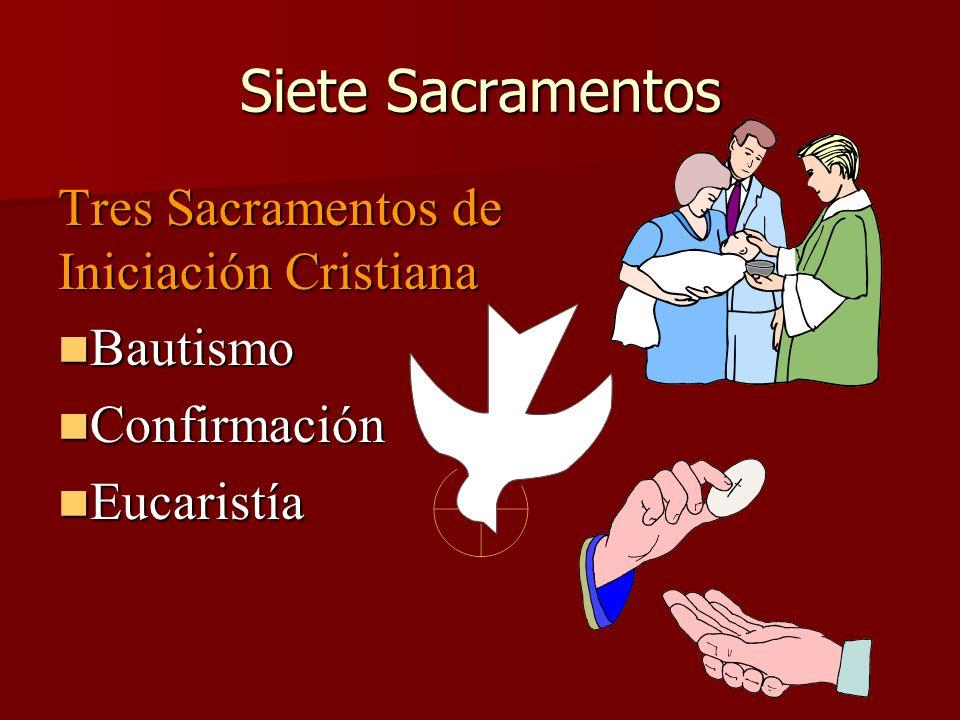 Siete Sacramentos Tres Sacramentos de Iniciación Cristiana Bautismo