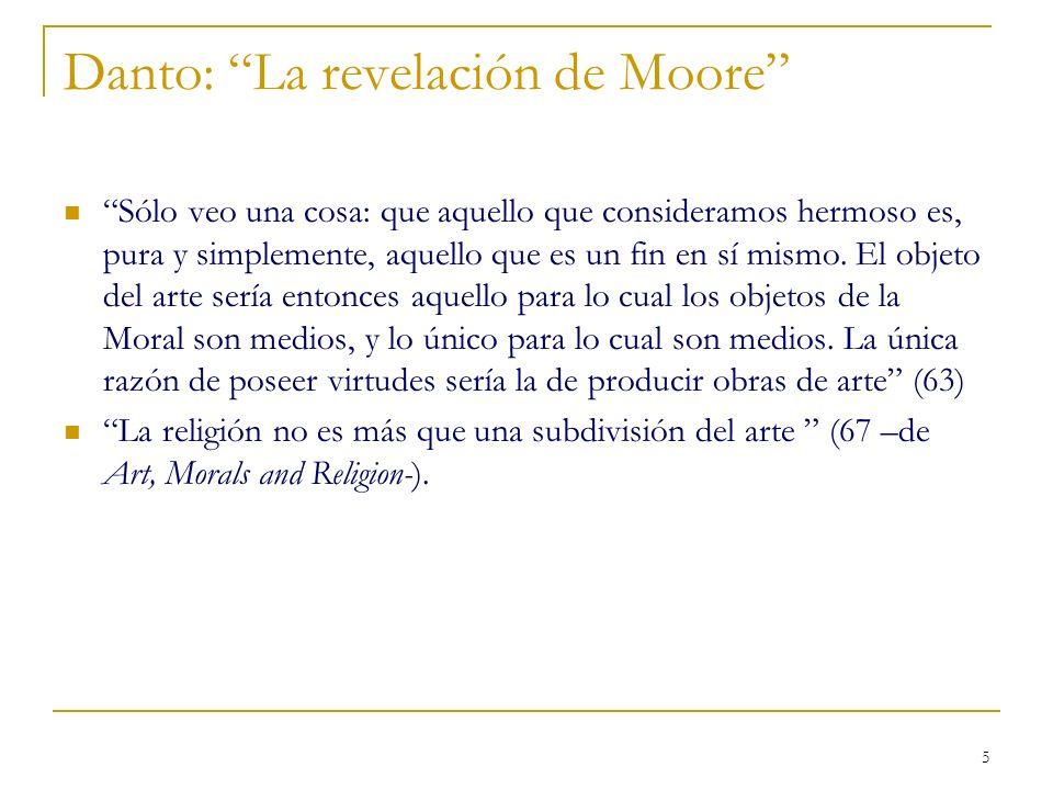 Danto: La revelación de Moore