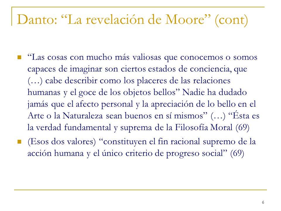 Danto: La revelación de Moore (cont)