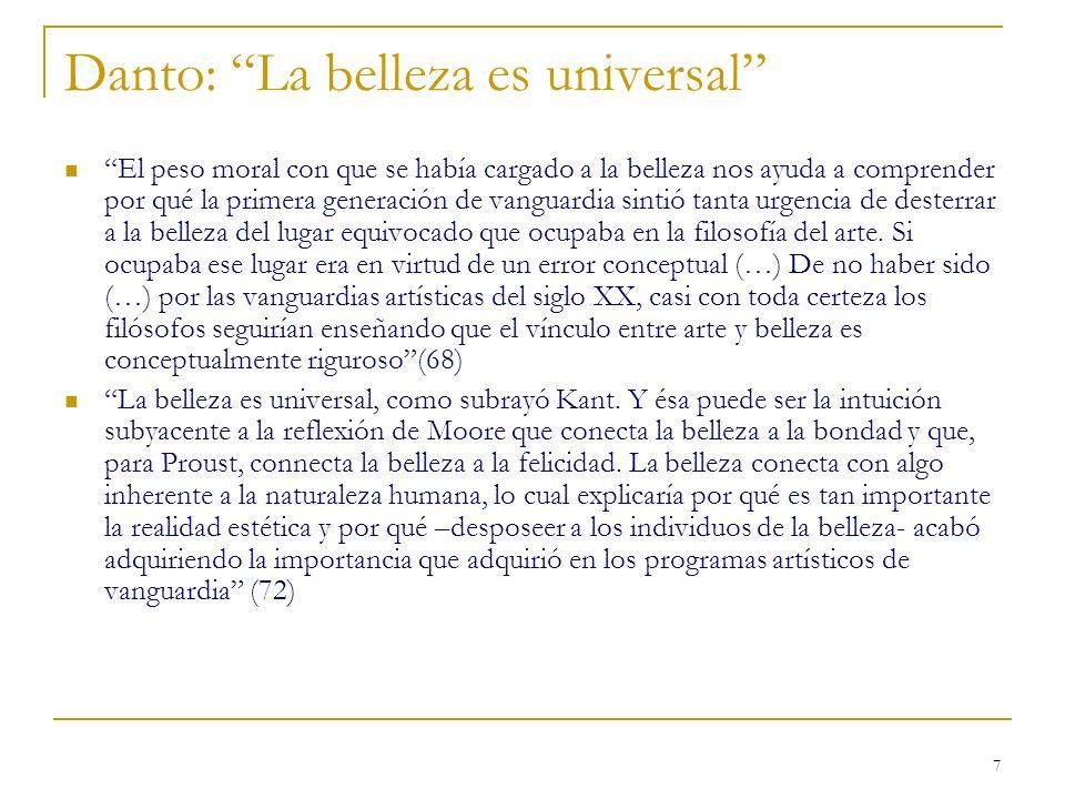 Danto: La belleza es universal