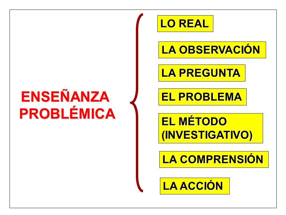 ENSEÑANZA PROBLÉMICA LO REAL LA OBSERVACIÓN LA PREGUNTA EL PROBLEMA