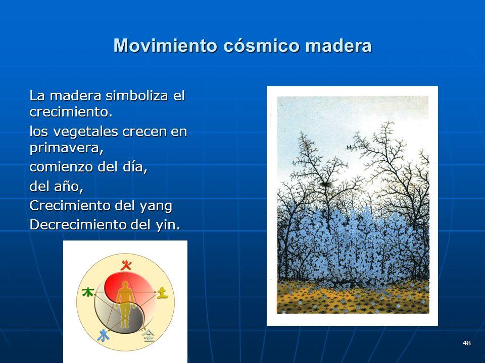Movimiento cósmico madera
