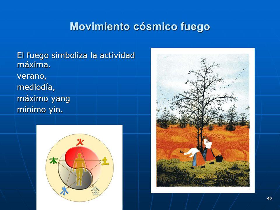 Movimiento cósmico fuego