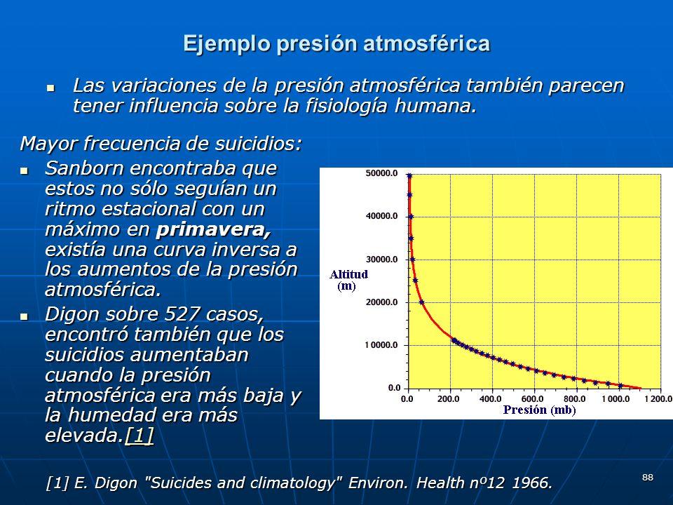 Ejemplo presión atmosférica