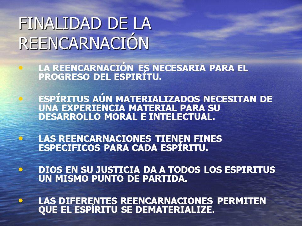 FINALIDAD DE LA REENCARNACIÓN