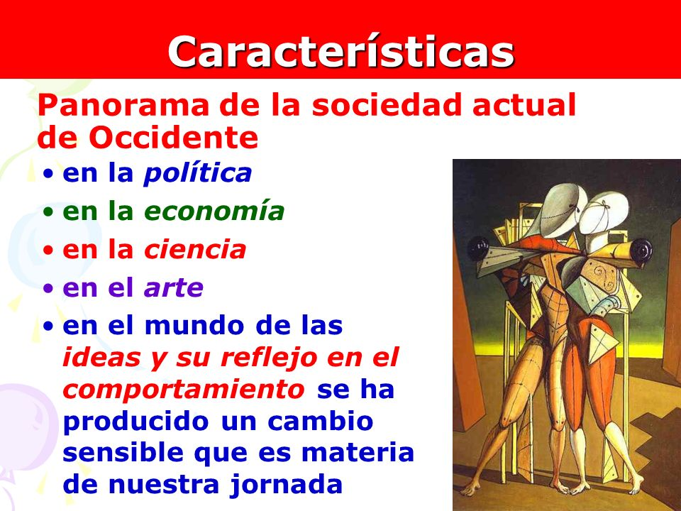 Características Panorama de la sociedad actual de Occidente