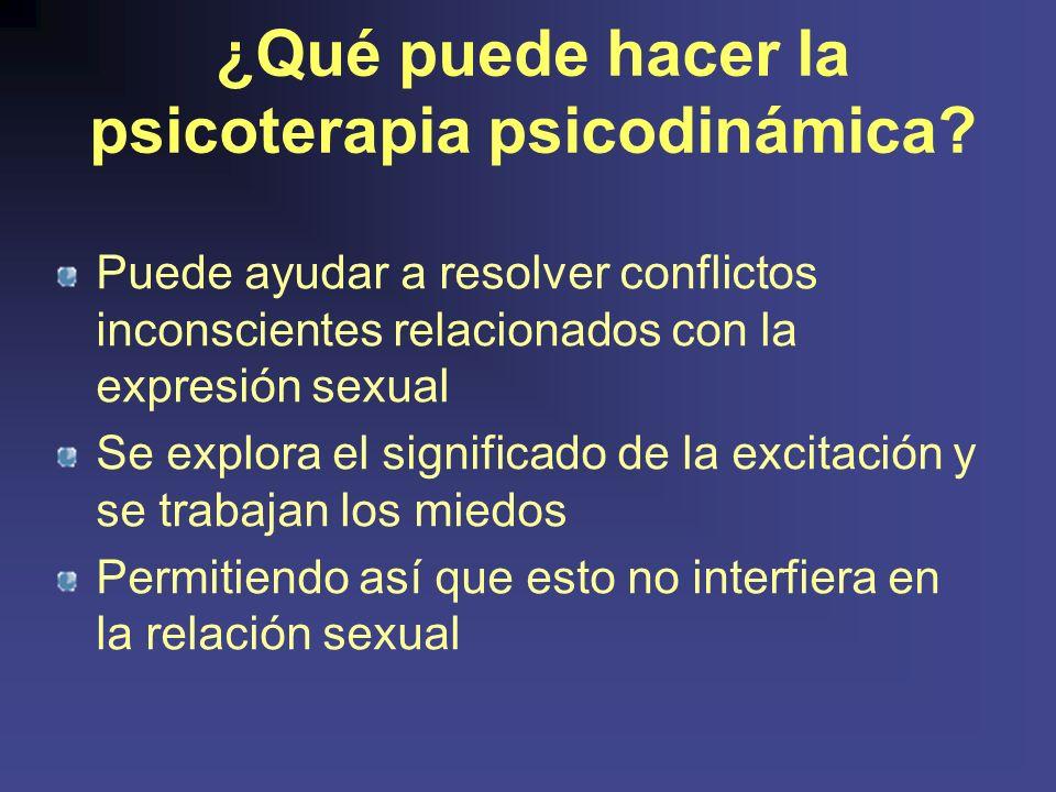 ¿Qué puede hacer la psicoterapia psicodinámica