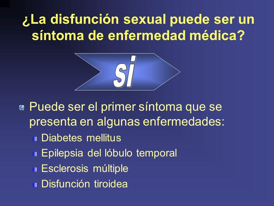 ¿La disfunción sexual puede ser un síntoma de enfermedad médica
