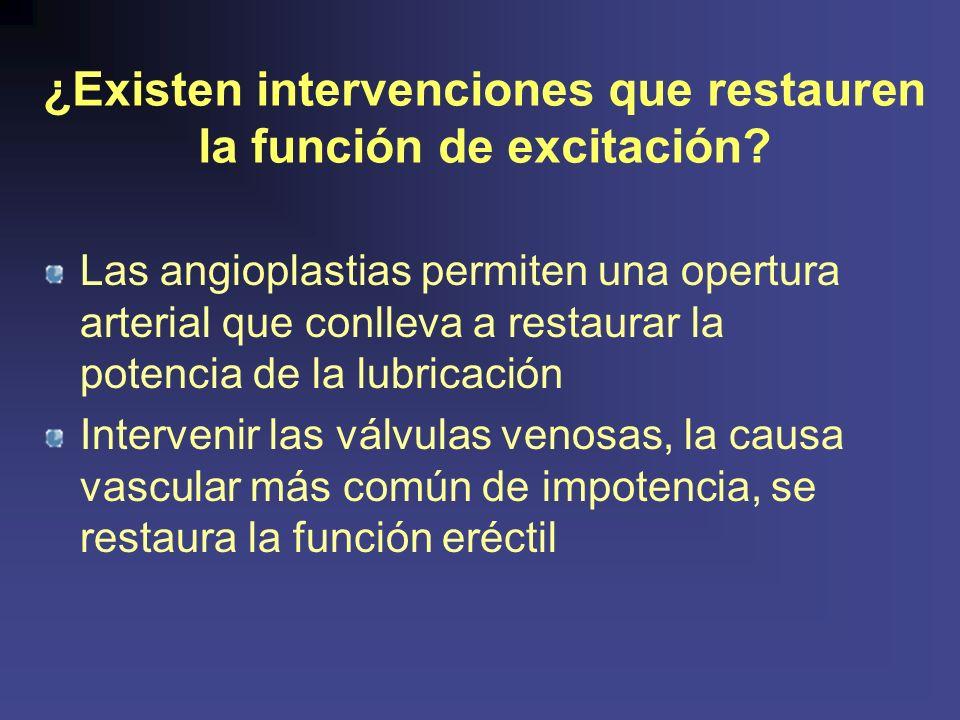 ¿Existen intervenciones que restauren la función de excitación