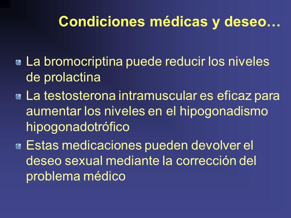 Condiciones médicas y deseo…