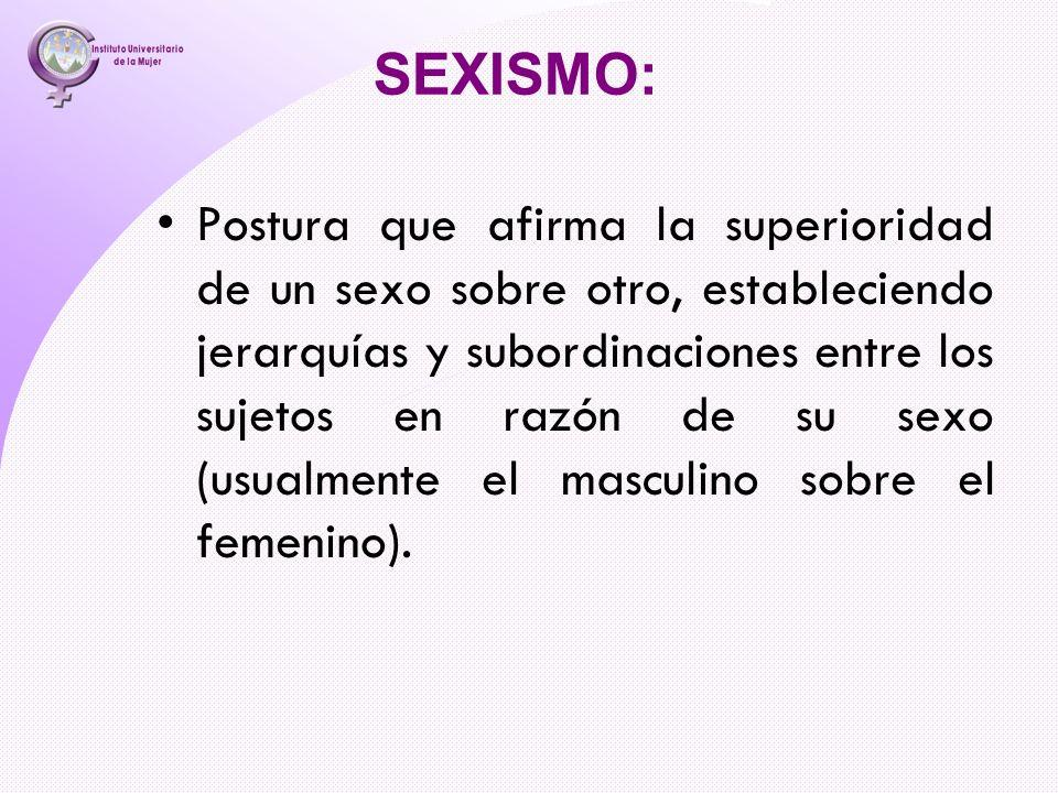 SEXISMO: