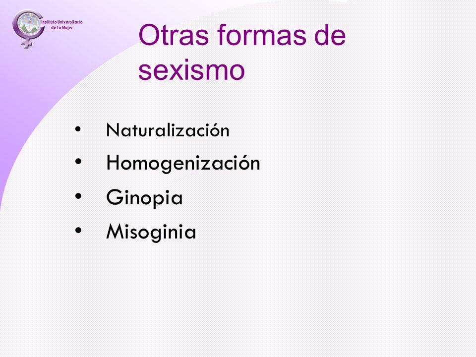 Otras formas de sexismo