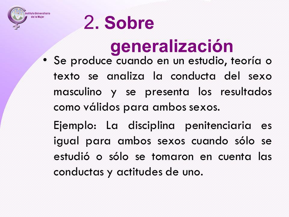2. Sobre generalización
