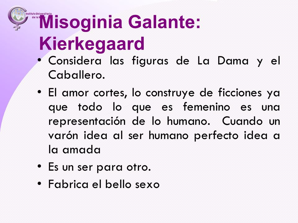 Misoginia Galante: Kierkegaard