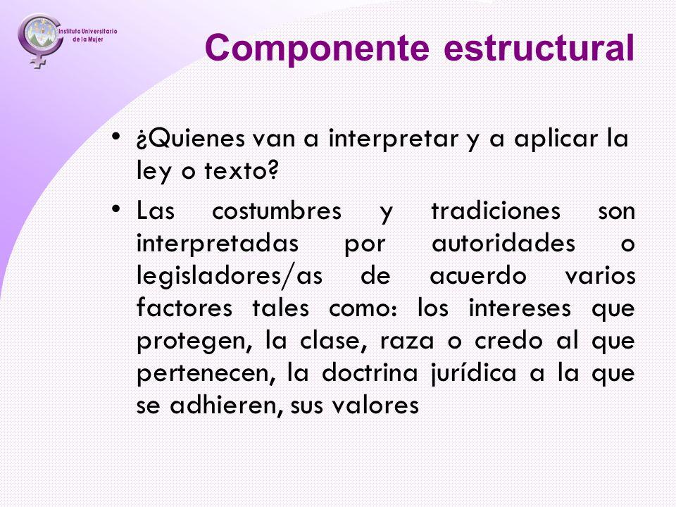 Componente estructural