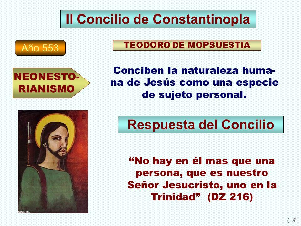 II Concilio de Constantinopla Respuesta del Concilio