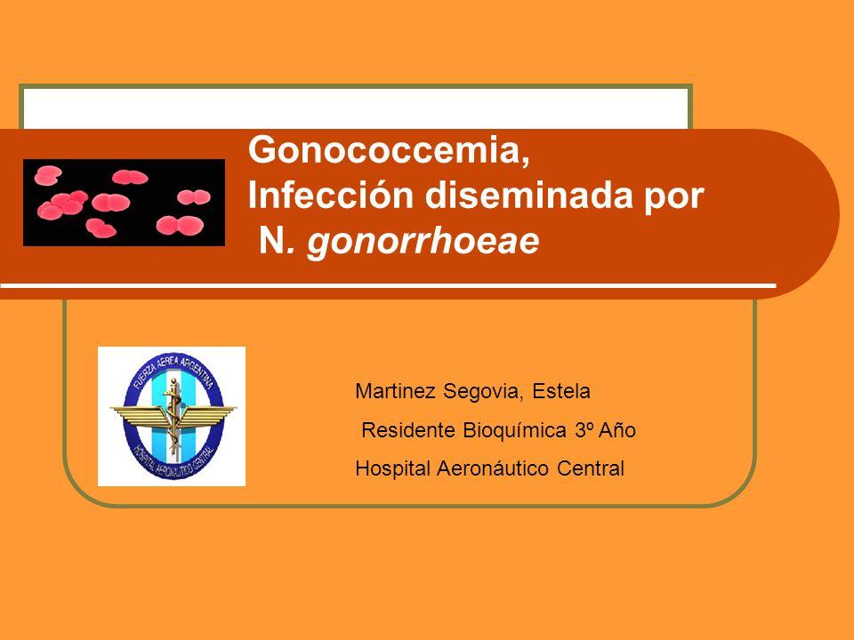 Gonococcemia, Infección diseminada por N. gonorrhoeae